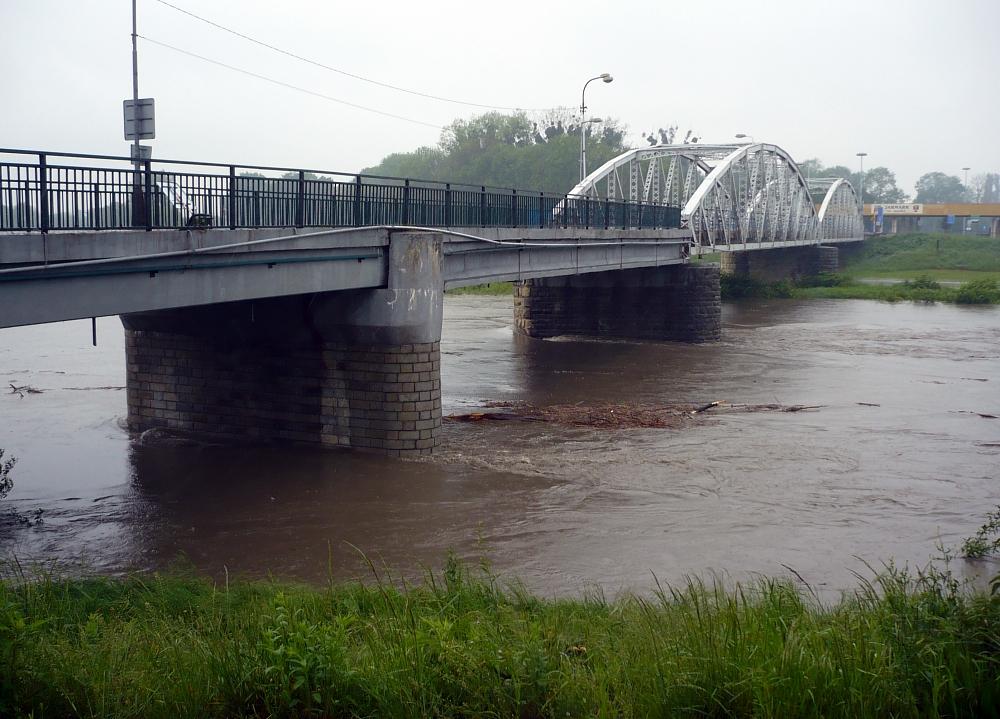 Odra i Olše v Bohumíně na prvním stupni povodňové aktivity