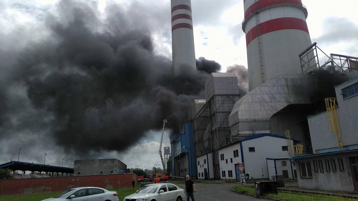 Zásah při požáru v elektrárně Dětmarovice vloni druhým nejlepším v Česku