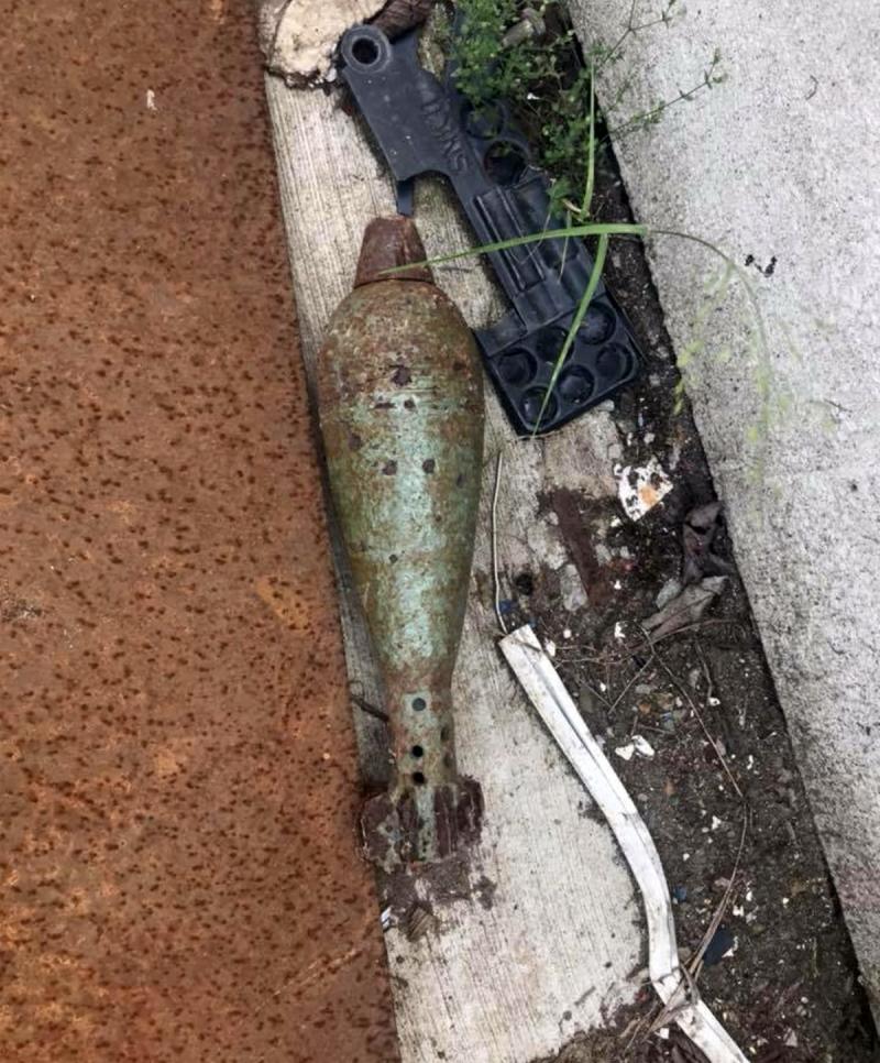 Mezi železným šrotem našel minometný granát