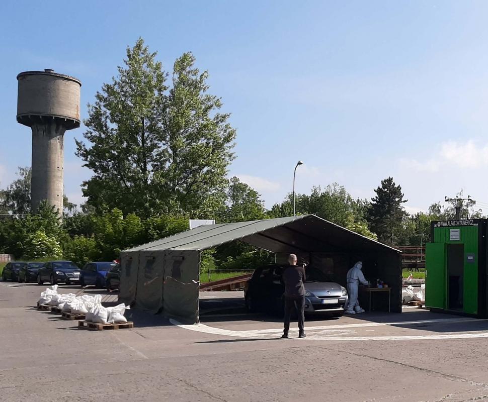 Nemocnice v Bohumíně posiluje provoz odběrového místa na Covid-19