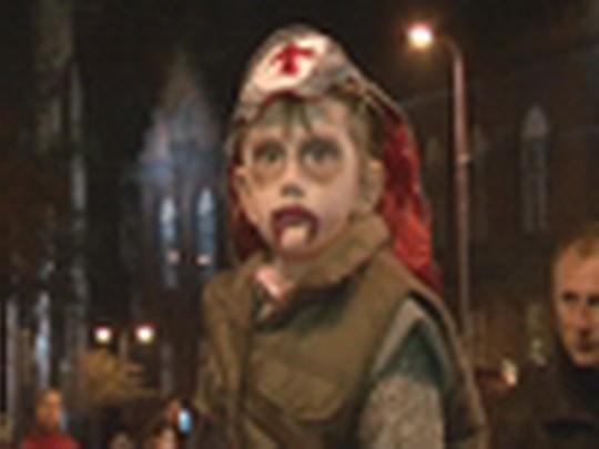 Děti slavily Halloween