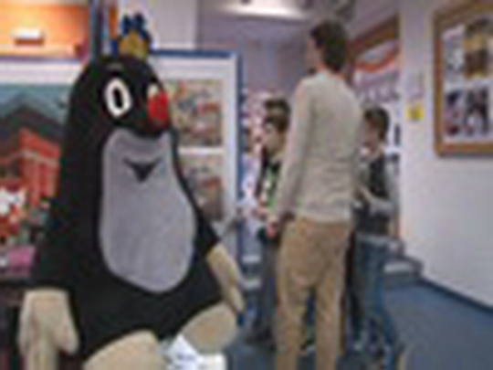 Krteček na interaktivní výstavě pro děti