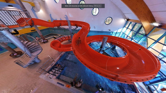 Aquacentrum - tobogán - Zobrazit virtuální prohlídku