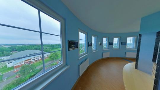 Penzion ve věži - vyhlídka - Zobrazit virtuální prohlídku