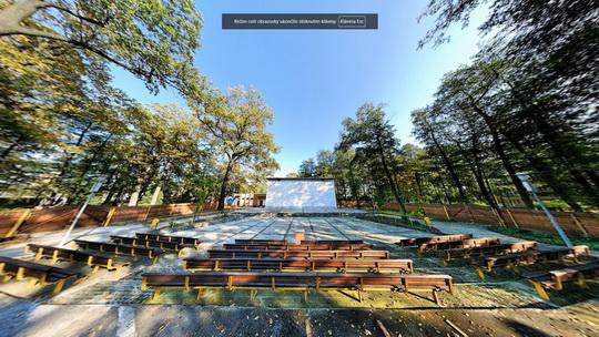 Amfiteátr K3 - letní kino - Zobrazit virtuální prohlídku