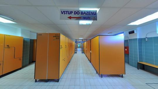 Aquacentrum - šatny - Zobrazit virtuální prohlídku