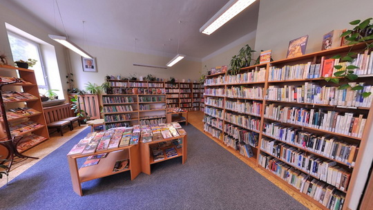 Knihovna K3 v Záblatí - interiér - Zobrazit virtuální prohlídku