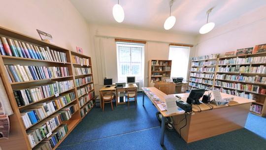 Knihovna K3 ve Starém Bohumíně - interiér - Zobrazit virtuální prohlídku