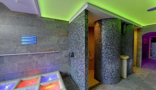 Aquacentrum - saunový svět - parní sauna, infra kabina, Kneipův chodník - Zobrazit virtuální prohlídku