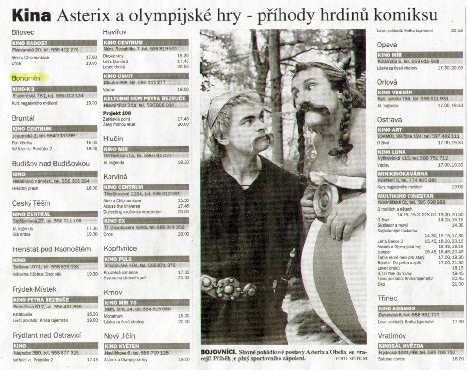 Kina Asterix a olympijské hry - příhody hrdinů komiksu - Zvětšit