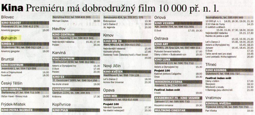 Kina Premiéru má dobrodružný film 10 000 př. n. l. - Zvětšit