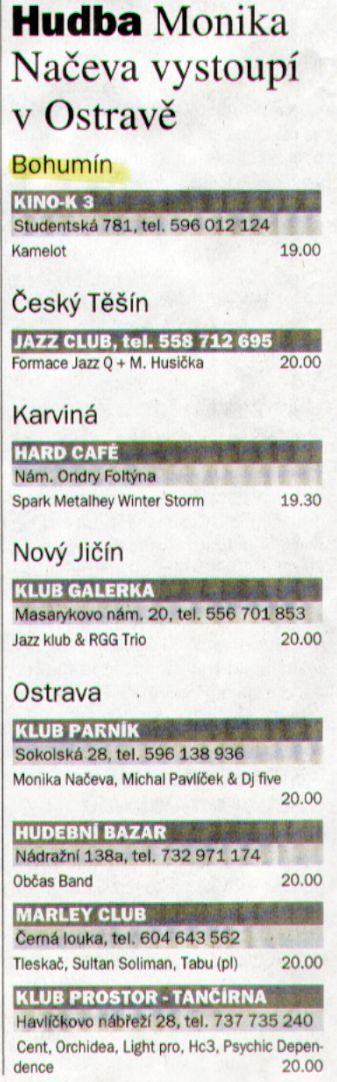 Hudba Monika Načeva vystoupí v Ostravě - Zvětšit