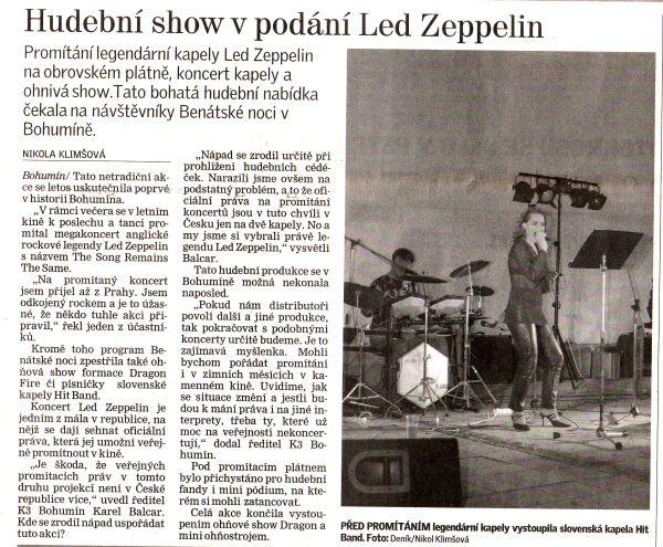 Hudební show v podání Led Zeppelin - Zvětšit