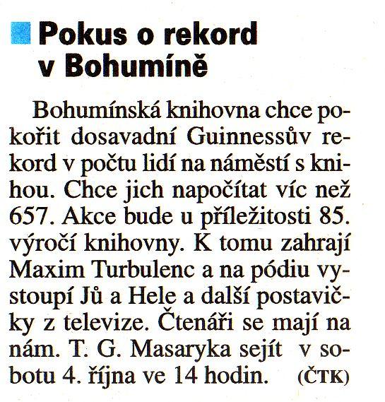 Pokus o rekord v Bohumíně - Zvětšit