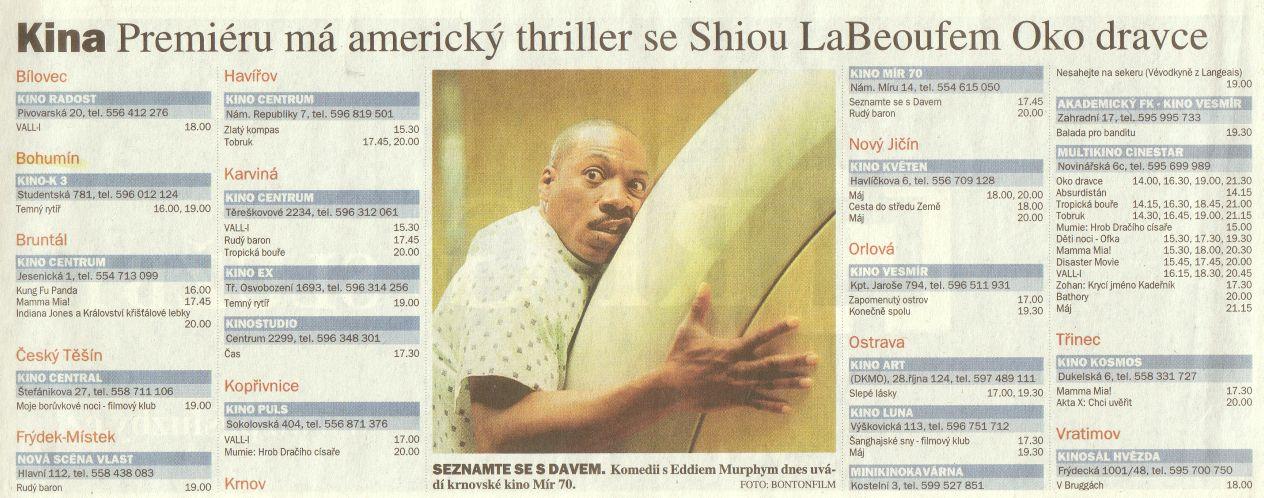 Kina Premiéru má americký thriller se Shiou LaBeoufem Oko dravce - Zvětšit