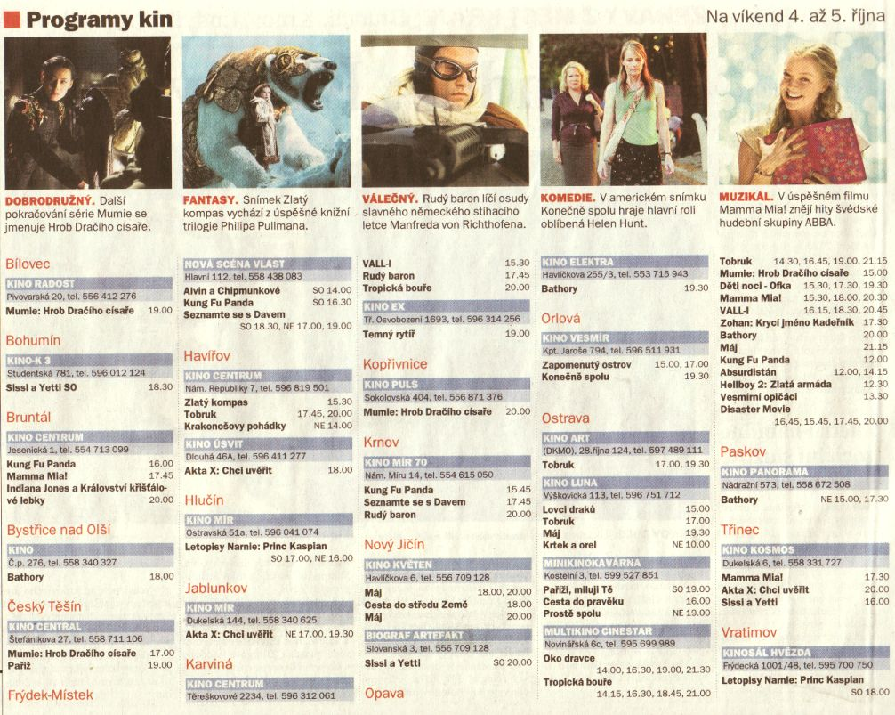 Program kin - Zvětšit