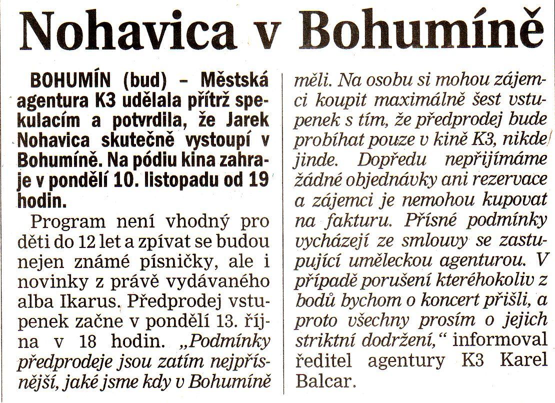 Nohavica v Bohumíně - Zvětšit