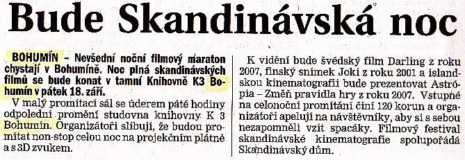 Bude Skandinávská noc - Zvětšit