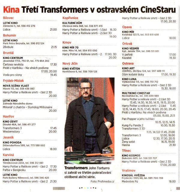 Kina Třetí Transformers v ostravském CineStaru - Zvětšit